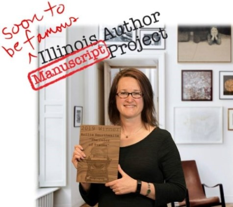 Hollie soon to be famous Illinois Author Award